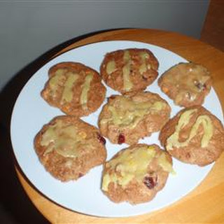 Crazy Yummy Cranberry Pecan Cookies with Orange Glaze