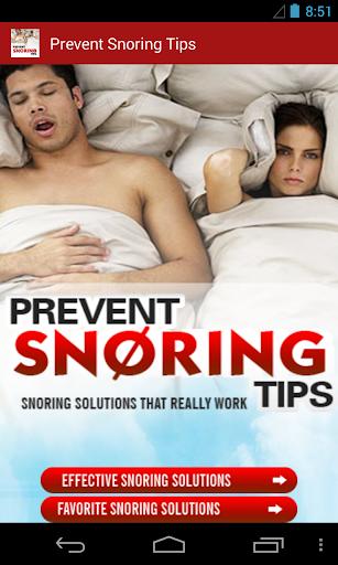 Prevent Snoring Tips