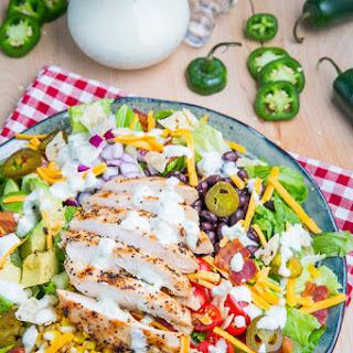 Southwestern Grilled Chicken Jalapeno Popper Salad.