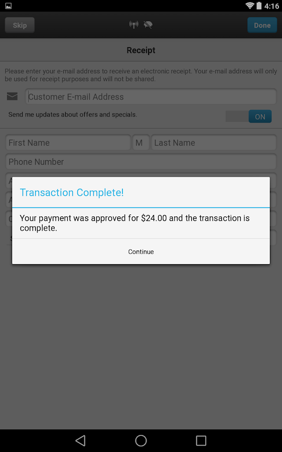 ROAMpay™ X4 - screenshot