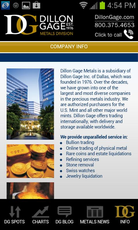 Dillon Gage Metals - screenshot