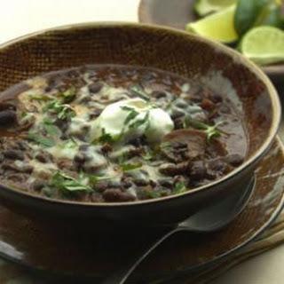 Slow-Cooker Black Bean-Mushroom Chili