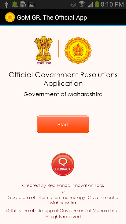 Maharashtra Govt. Resolutions- screenshot