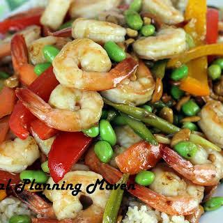 Asian Shrimp, Veggie 'n Cashew Stir-Fry.