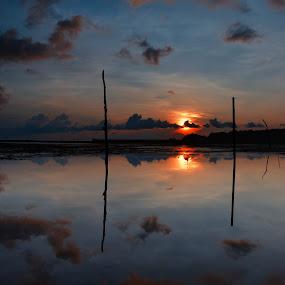 one Day in The Morning by Medis Diwangkara - Landscapes Sunsets & Sunrises ( beutiful, sunset, sunrise, beach, morning, batam )