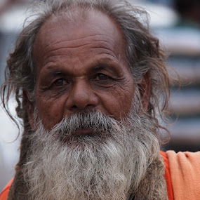 The Sadhu by Ajit Pillai - People Portraits of Men ( temple, religion, india, worship, sadhu,  )