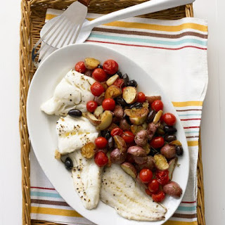 Roasted Cod with Potatoes and Olives Recipe