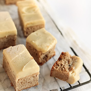 Spiced Blondies with Chai-Infused Ganache