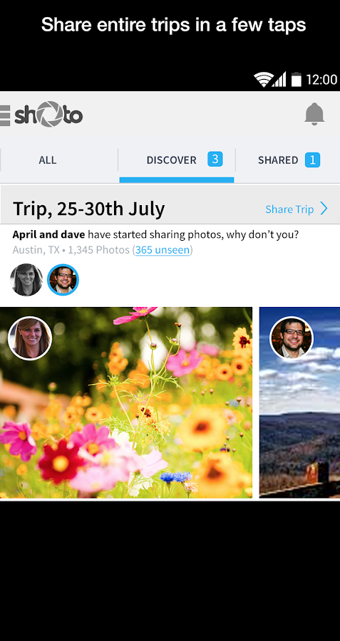 Shoto - Private Photo Sharing- screenshot
