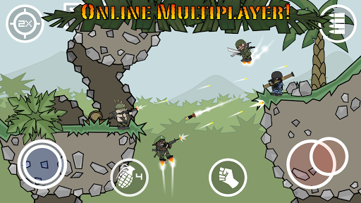 Doodle Army 2 : Mini Militia game (apk) free download for Android/PC/Windows screenshot