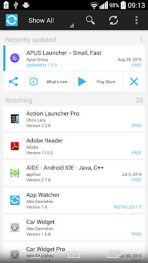App Watcher - Updates notifier