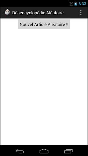 Désencyclopédie Aléatoire