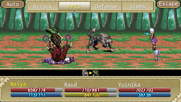 Screenshot of RPG Knight of the Earthends