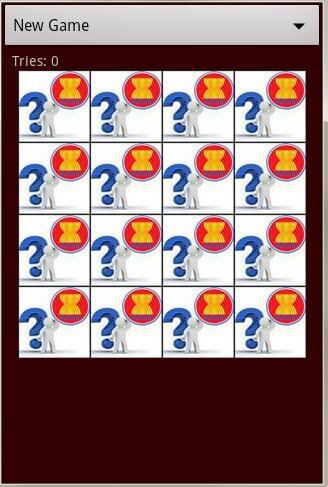 东盟标志存储器游戏