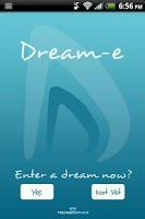Screenshot of DREAM-e: Dream Analysis A.I.