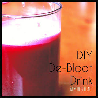 DIY De-Bloat Drink.