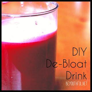 DIY De-Bloat Drink.