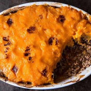 Shepherd's Pie with Sweet Potatoes.