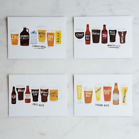 Seasonal Beer Cards (Set of 8)