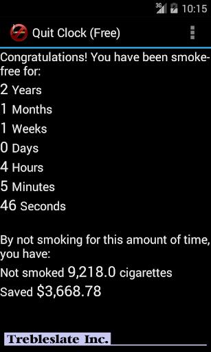 Ex-Smoker's Quit Clock Free