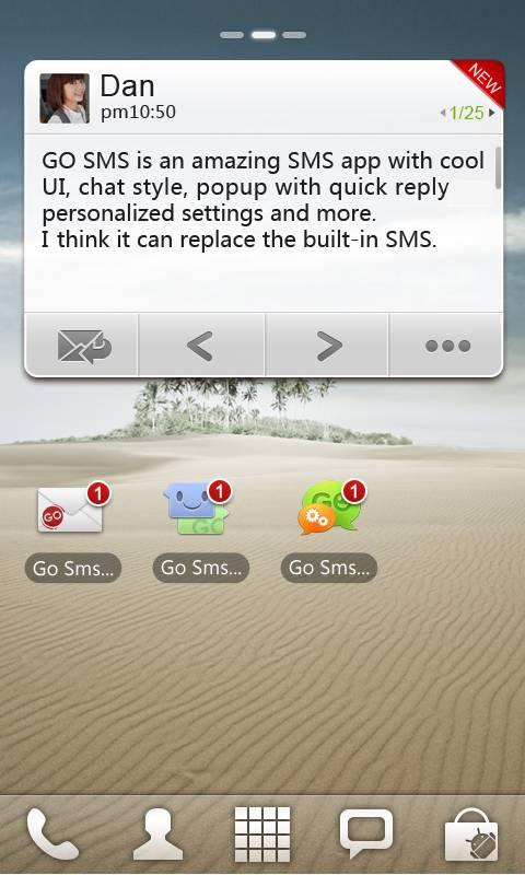 GO SMS Pro Widget - screenshot