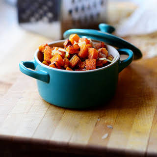 Roasted Butternut Squash with Pine Nuts and Parmesan.