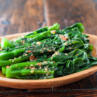 Chinese Broccoli with Garlicky Ginger Miso.