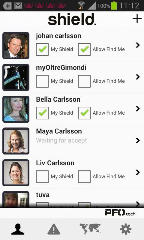 PFO Shield Personal Safety - screenshot