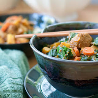 Easy Vegetable & Seitan Curry.