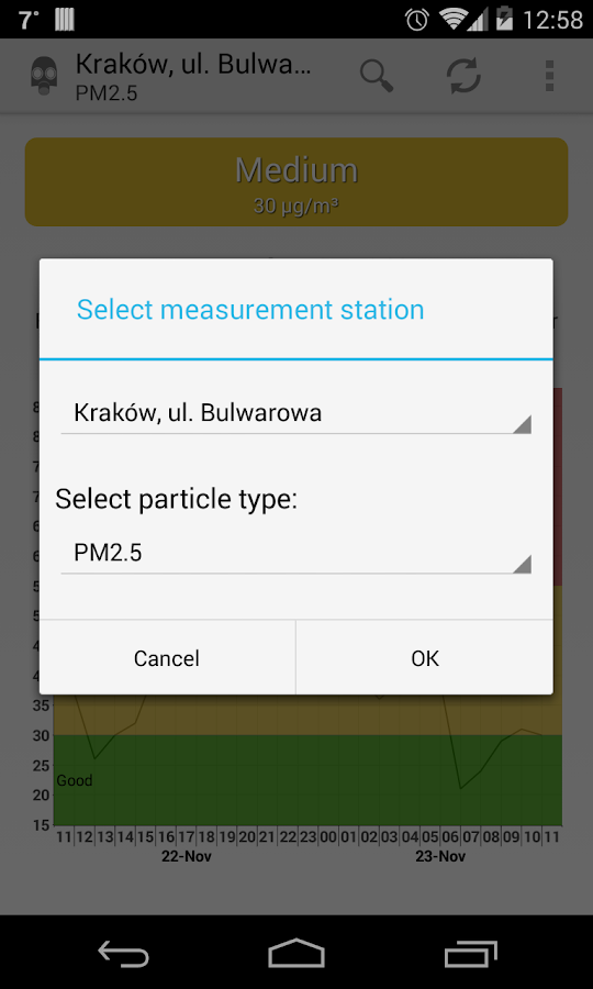 Air quality Lesser Poland- screenshot