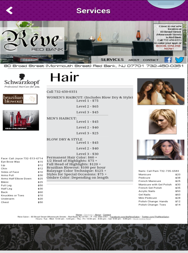 Reve Red Bank Hair Salon- screenshot