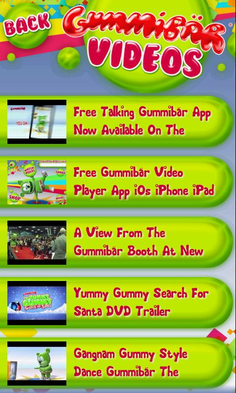 Gummibär Video Player - screenshot