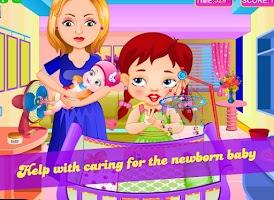 Screenshot of Nancy little new baby care