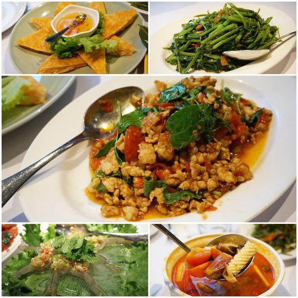 《泰式》台北大安 瓦城泰國料理 Thai Town Cuisine。全台最大的泰式連鎖餐飲第一品牌 大安區泰式料理 蝦醬空心菜 辣炒雞肉 月亮蝦餅。Sheena