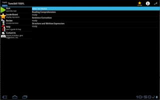 Screenshot of TuneSkill TOEFL®