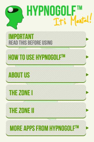 Hypno Golf - The Zone - screenshot