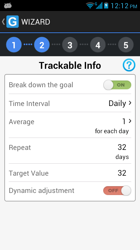 GoalTracker - screenshot