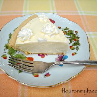 No Bake Orange Curd Creme Pie