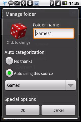 Auto App Organizer free- screenshot