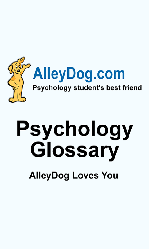 Psychology Glossary- screenshot