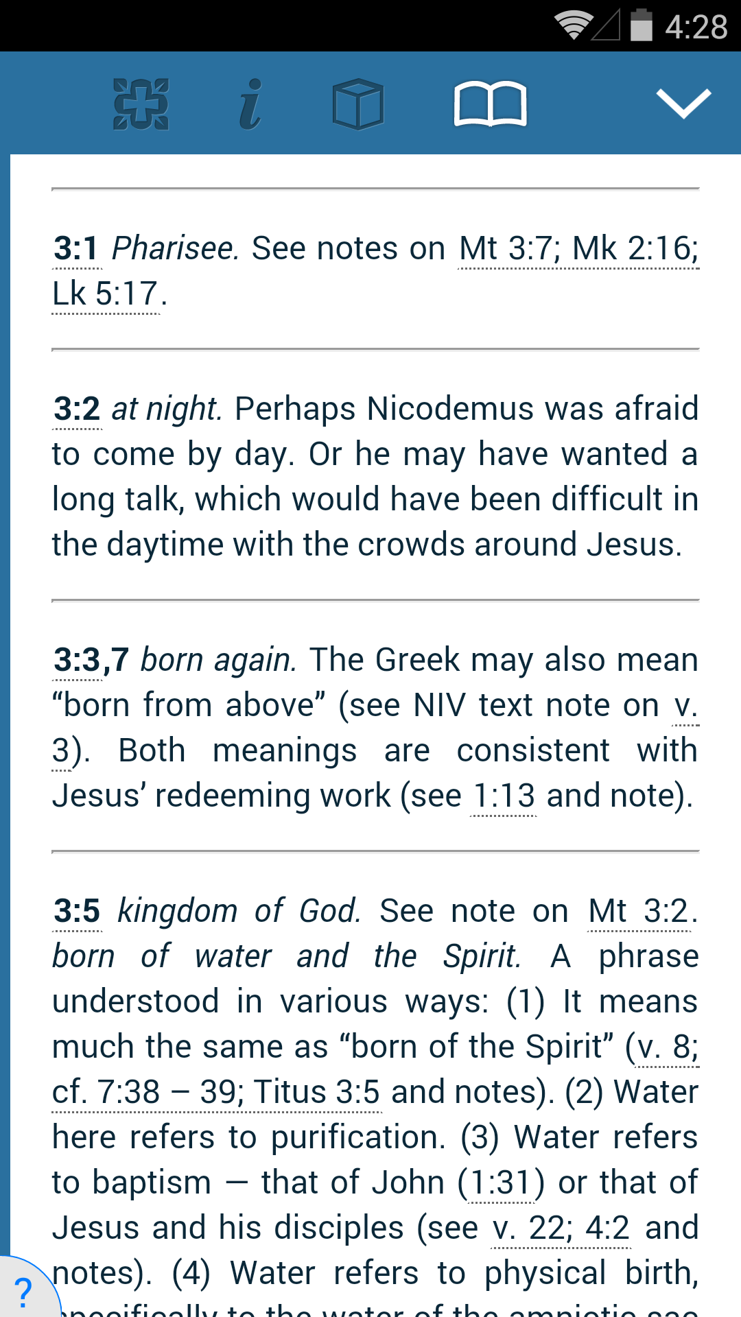 NIV Study Bible screenshot #5