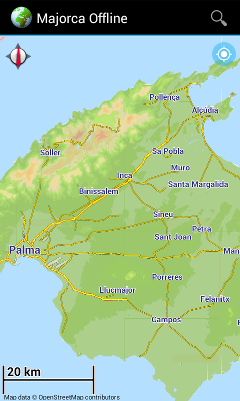 Map Of Spain For Android.Offline Map Majorca Spain
