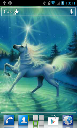 Horse and northern lights LWP