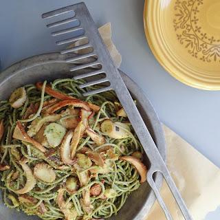 Wild Mushroom & Pistachio Pesto Pasta