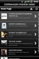 Screenshot of Copenhagen Fashion Week