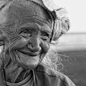 a Perfect Smile by Wahyoedi Iwan - People Portraits of Women ( pwc 94: b&w portraits of women, woman, b&w, portrait, person )