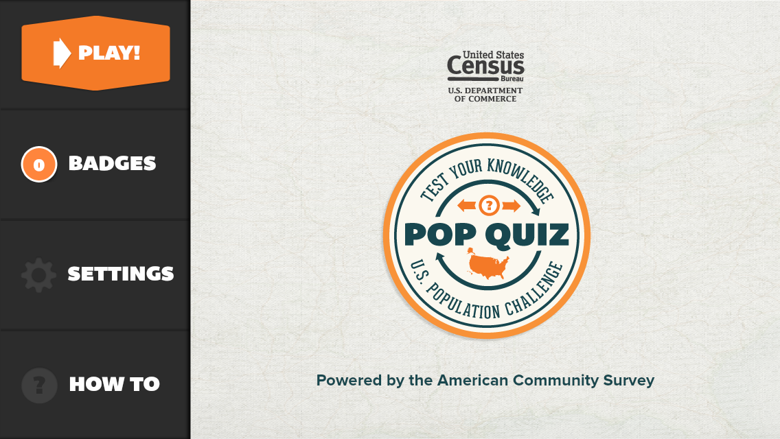 Census PoP Quiz- screenshot
