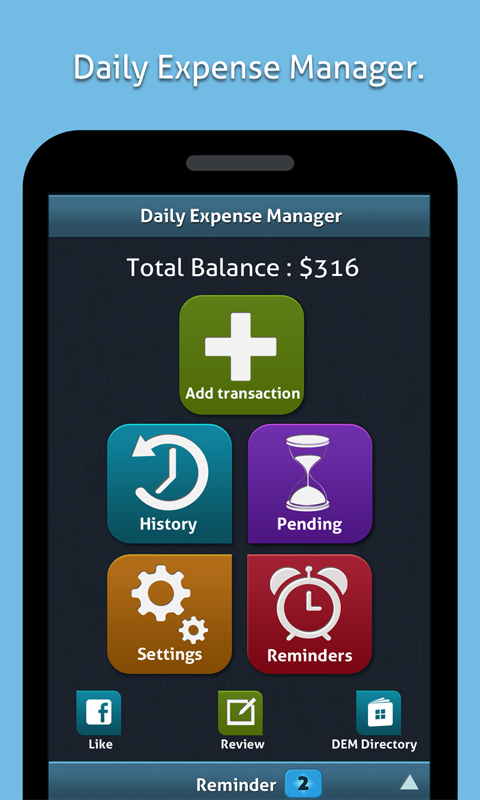 Daily Expense Manager (DEM) - screenshot