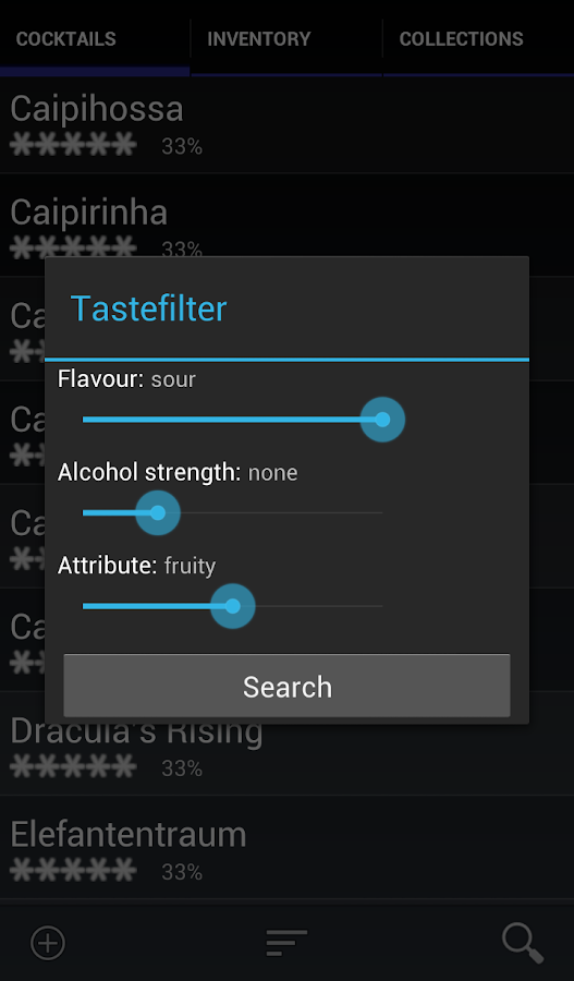 Bar Manager - Cocktail App- screenshot