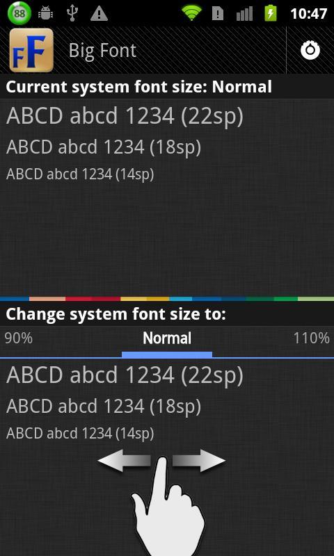 Big Font (改變系統字體大小) - screenshot